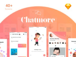 Sketch。,Chat More UI KIT的独特聊天UI工具包