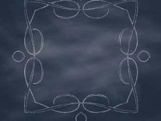 手在黑板背景上绘制的框架