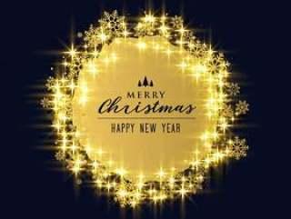 闪亮的闪闪发光和圣诞假日节日的雪花