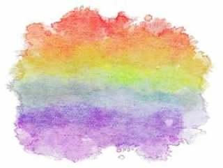 彩虹色的水彩壁纸