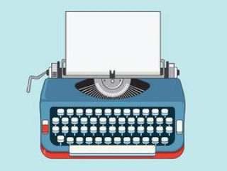 复古打字机机器图