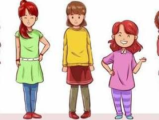 组的青少年女孩