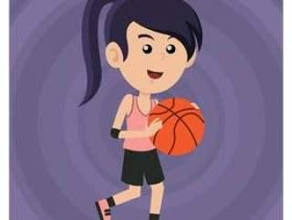打篮球的女孩
