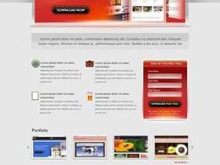 欧美风格企业网站模板五