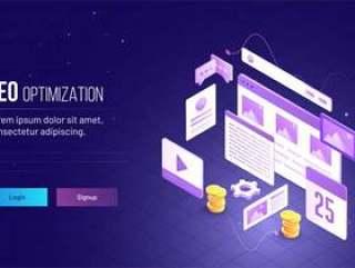 网络支付情景插画网页模板矢量素材下载