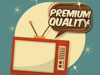 复古老式电视优质讲话泡泡
