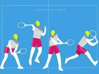 澳大利亚网球商标吉祥人传染媒介平的例证