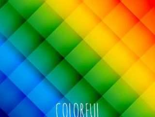 多彩的抽象图案海报矢量设计插画