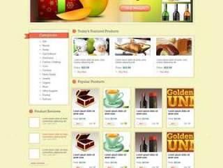 欧美风格企业网站模板四