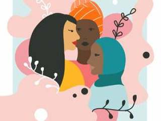 颜色传染媒介的妇女