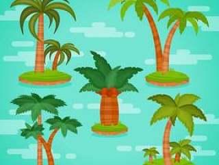 热带棕榈树矢量