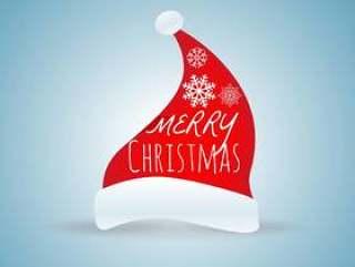 圣诞快乐节的圣诞老人帽