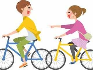 与2人骑自行车