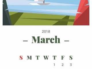 2018年3月景观日历