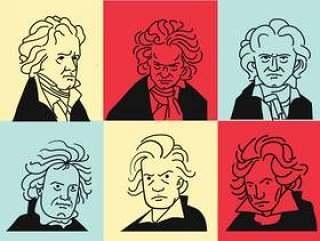 贝多芬矢量艺术