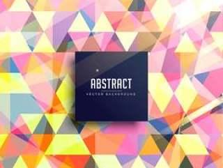 五颜六色的三角形抽象背景