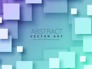 在蓝色的3d抽象方块背景