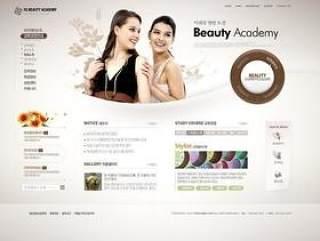 韩国服装企业网站模板PSD分层