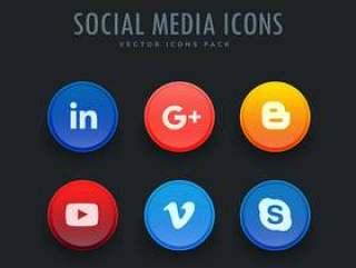 标准的社交媒体图标包