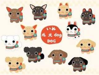 狗的时装表演风格,日本风格的狗