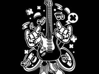 电吉他卡通