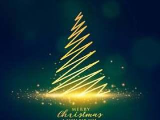 创造性的圣诞树设计上发光的闪光闪闪发光