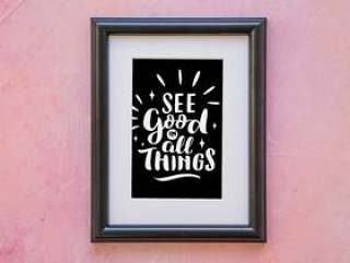 Frame mockup with quote concept