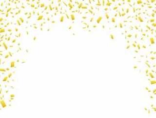 金色金五彩纸屑背景框架边框框架壁纸