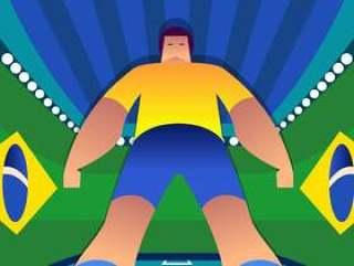 巴西世界杯足球运动员常设姿势