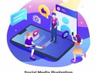 社交媒体图