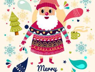 花纹衣圣诞老人