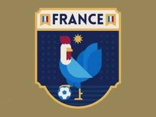 法国世界杯足球徽章