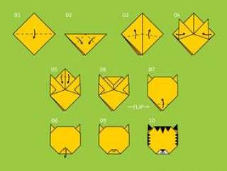 令人敬畏的折纸动物载体