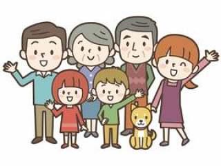 幸福的家庭三代人