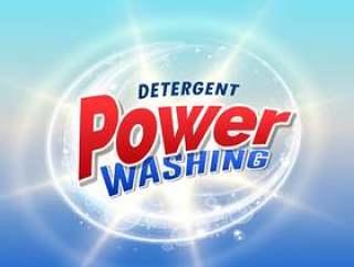 洗涤剂和清洁产品包装的概念设计模板