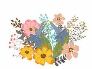 套花花束设计传染媒介