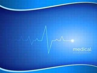医疗,药房或医疗保健矢量背景与心脏跳动