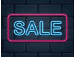 霓虹灯销售与粉红色的框架