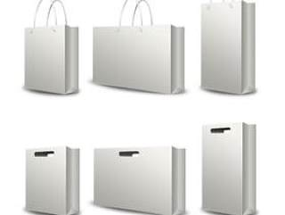 Bags手提袋模型psd分层素材