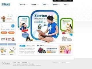 企业网站模板PSD分层(750)