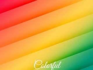 抽象的彩色线条背景海报矢量设计怡乐思