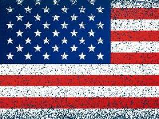 美国国旗在grunge纹理