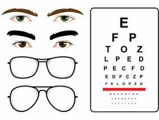 男性眼睛测试