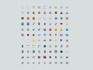 99枚多彩40*40图标PSD原文件放送