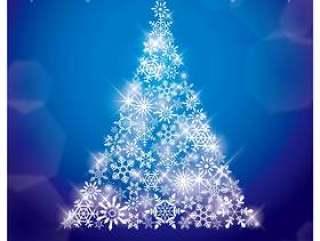 圣诞贺卡蓝色