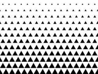 三角形图案矢量背景在黑色和白色