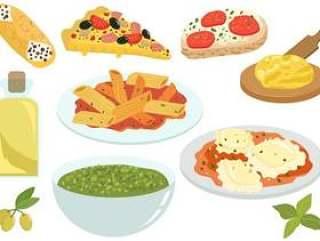 意大利食品矢量
