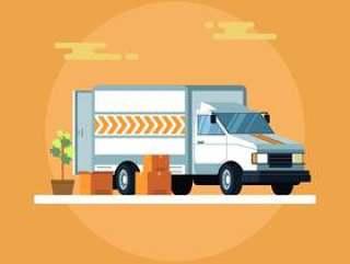 通过移动卡车矢量运输
