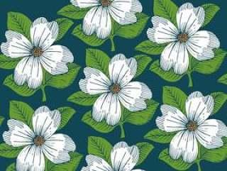 复古花卉壁纸图案