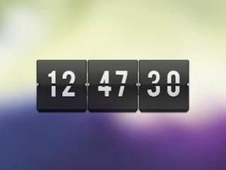 时间显示牌-psd分层素材